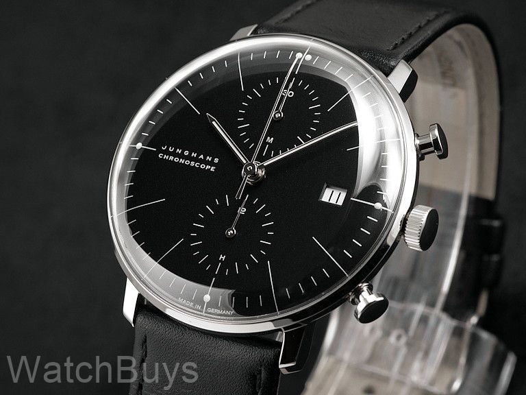 junghans max bill chronoscope black dial. Black Bedroom Furniture Sets. Home Design Ideas