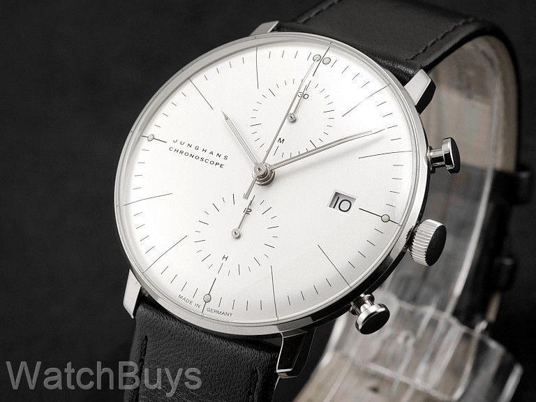 junghans max bill chronoscope silver dial indices. Black Bedroom Furniture Sets. Home Design Ideas