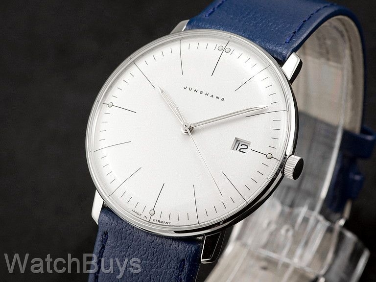 junghans max bill men 39 s quartz silver dial indices. Black Bedroom Furniture Sets. Home Design Ideas