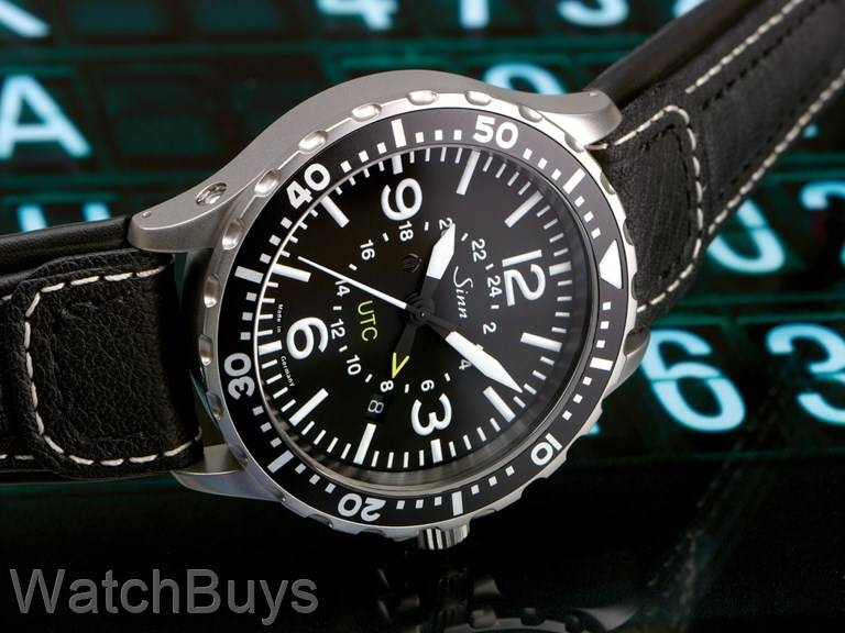sinn 857 utc tegimented on strap