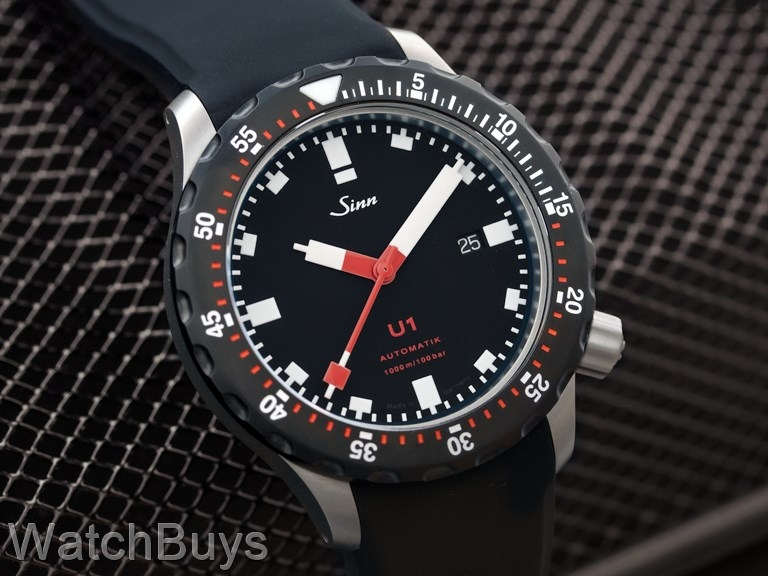 sinn u1 sdr black bezel on strap. Black Bedroom Furniture Sets. Home Design Ideas