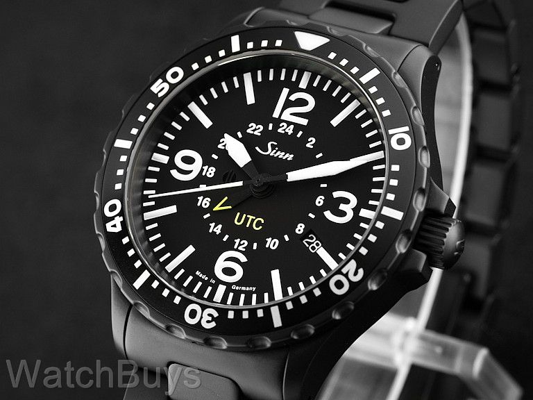 sinn 857 utc black tegimented on bracelet