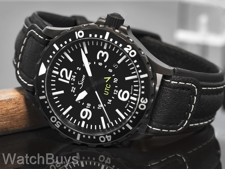 sinn 857 utc black tegimented on strap