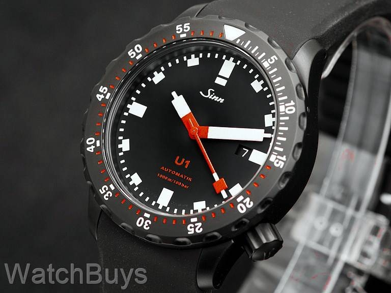 sinn u1 sdr rubber strap sinn watches watches page. Black Bedroom Furniture Sets. Home Design Ideas